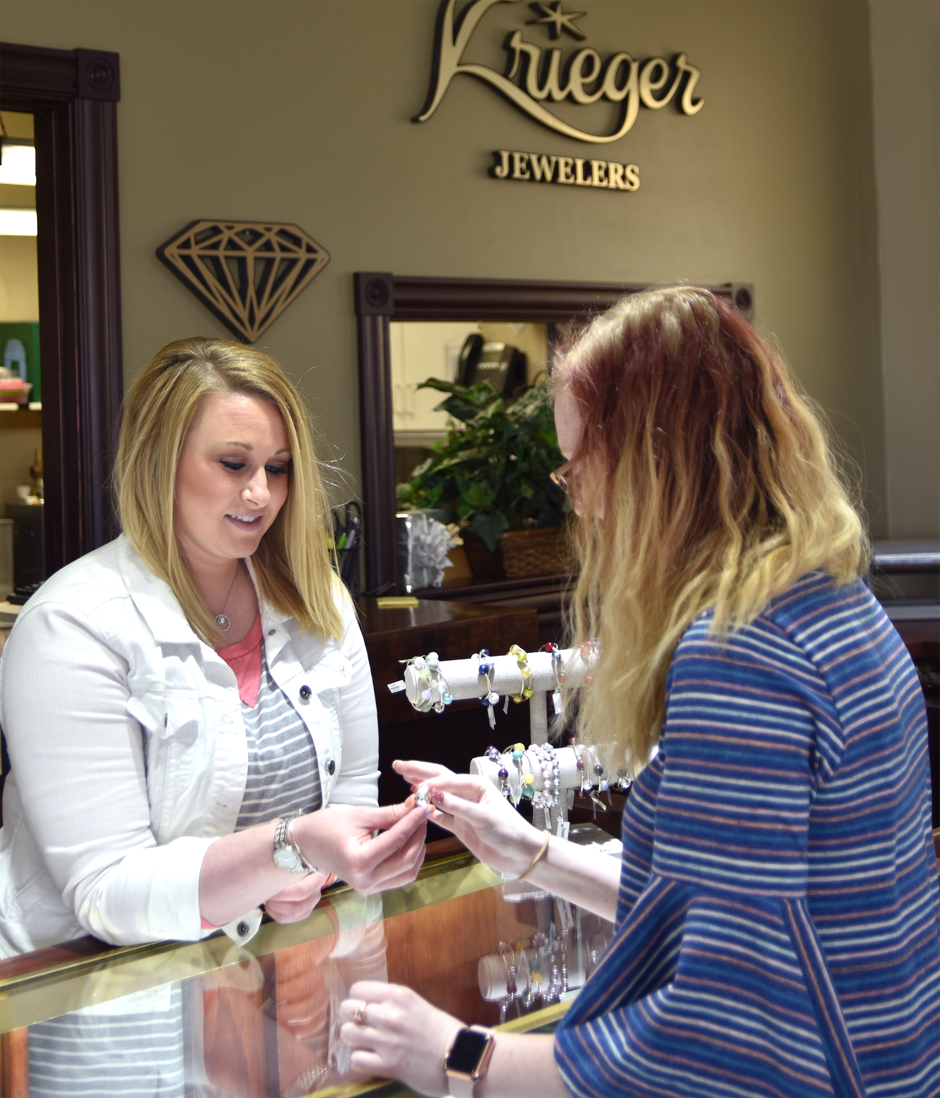 Krieger Family Jewelers Helping a Customer